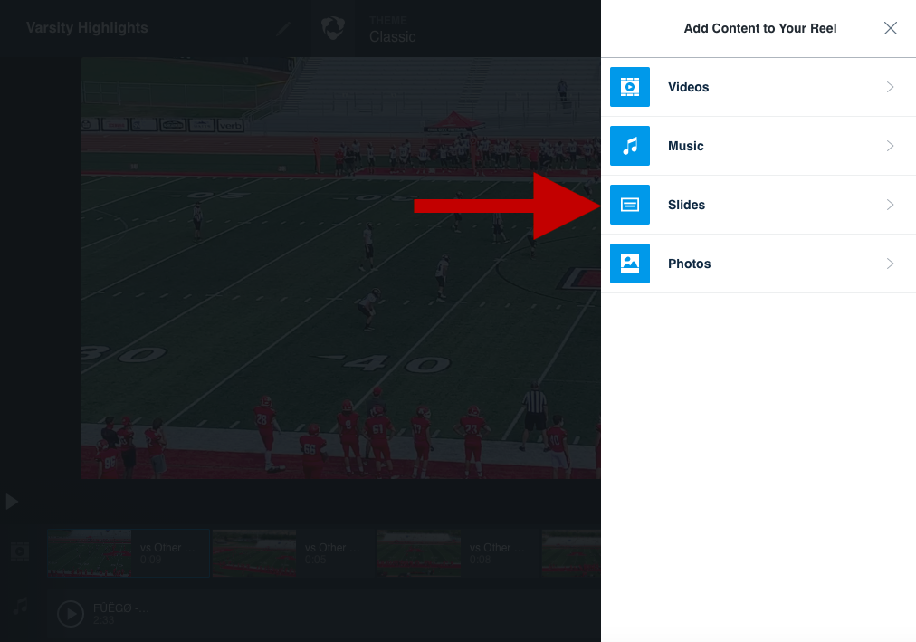 How to make a football highlight reel